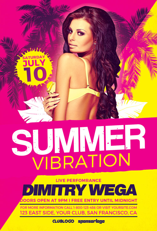 Summer-Vibration-Flyer-Template-Awesomeflyer-com
