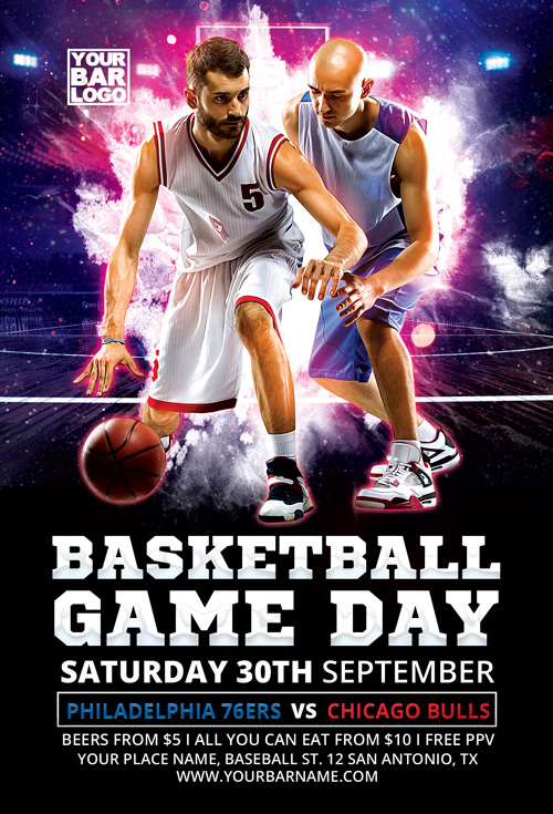 Basketball Game Day Vol 1 Flyer Template