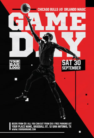 Basketball Game Day Vol 2 Flyer Template