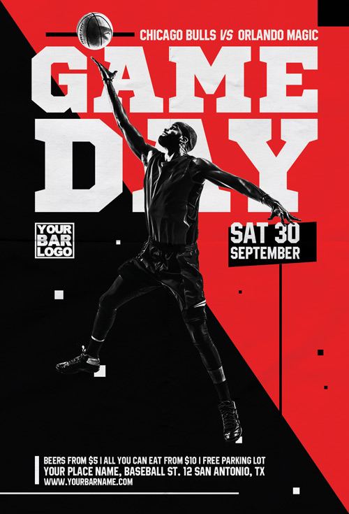 basketball tournament program template - basketball game day vol 1 flyer template flyer for sport