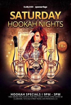 Hookah Nights Flyer Template