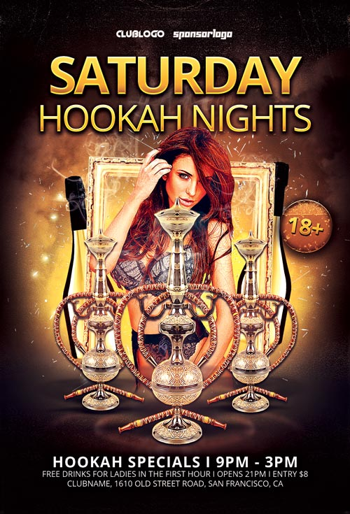 Hookah Nights Flyer Template