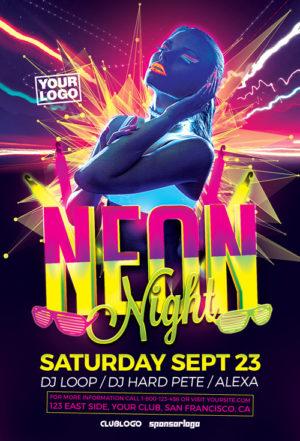 Neon Night Flyer Template