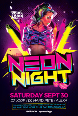 Party And Club Psd Flyer Templates For Photoshop | Awesomeflyer