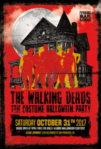 The-Walking-Deads-Party-Flyer-Template-Awesomeflyer-com