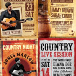 Western Country Flyer Template Bundle