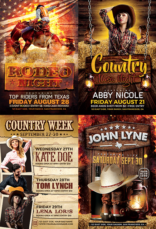Country-Flyer-Template-Bundle-Preview-2-Awesomeflyer-com
