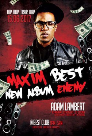 Hip Hop Album Release Party Flyer Template