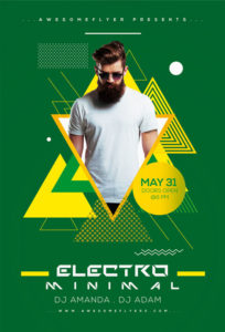 Minimal-Electro-Flyer-Template-Awesomeflyer-com