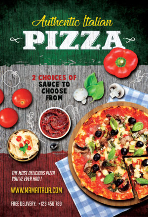 Pizza Restaurant Flyer Template