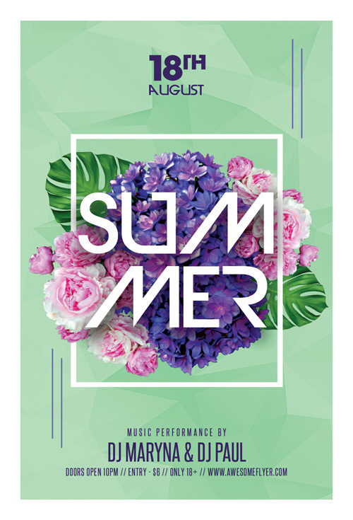 Summer Party Night Club Flyer Template