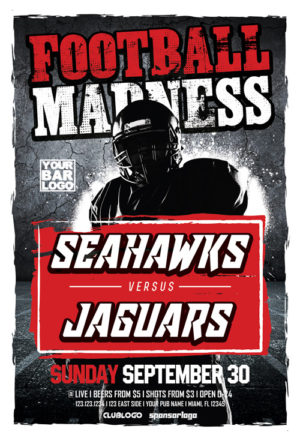 Football Madness Sports Flyer Template