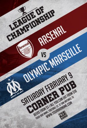 First League Soccer Game Flyer Template