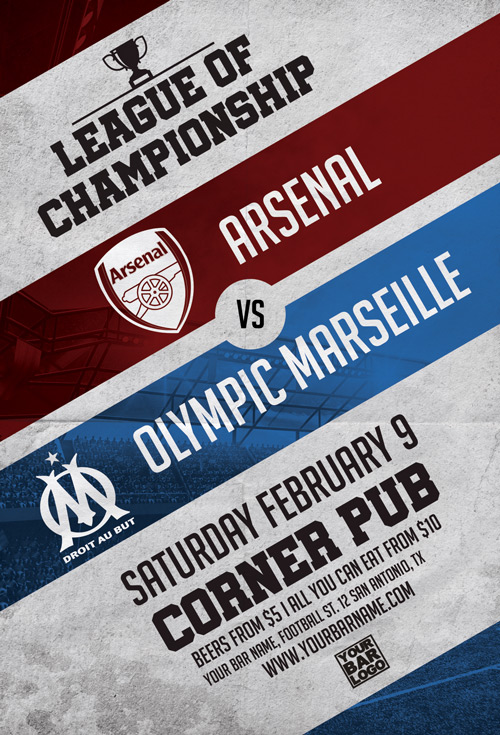 First League Soccer Game Flyer Template Flyer For Euro Soccer Events