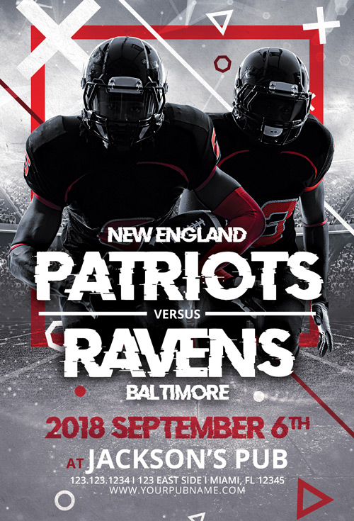 Football Game Day Flyer Template Vol.2 - Download Sport Event Flyers