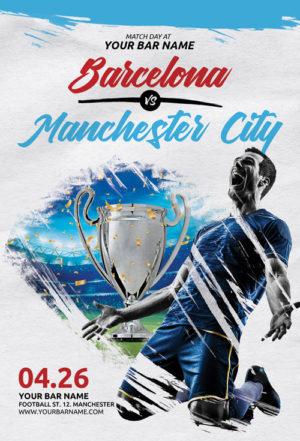 Soccer Match Day Flyer Template