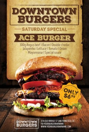 Hamburger Special Flyer Template