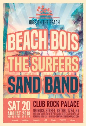 Beach Gigs Flyer Template