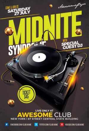 Midnight Syndrome Flyer Template