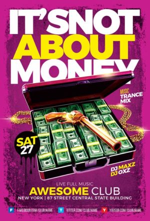 Money Club Flyer Template
