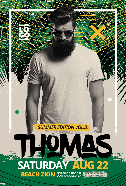 Summer DJ Party Flyer Template