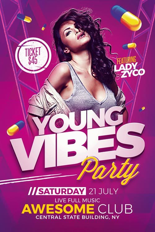 Young-Vibes-Party-Flyer-Template-Preview-Awesomeflyer-com