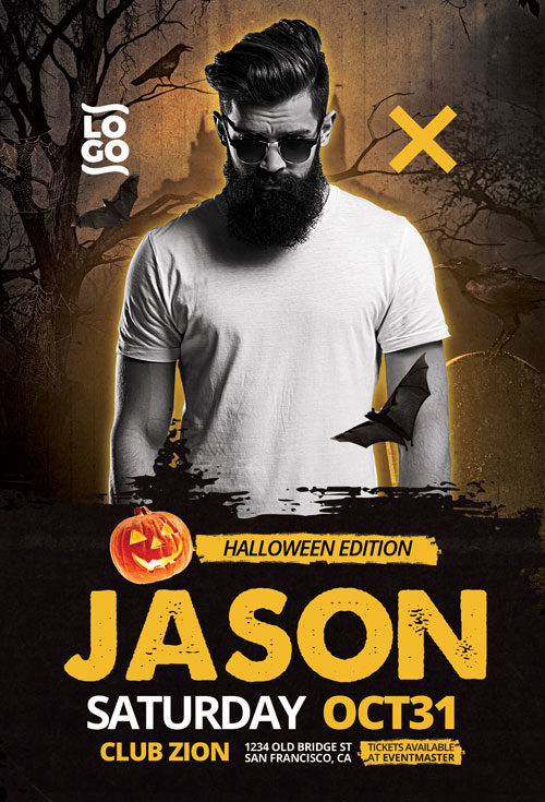 DJ Artist Halloween Edition Flyer Template