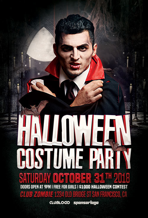 Halloween Costume Party Flyer Template Vol 2
