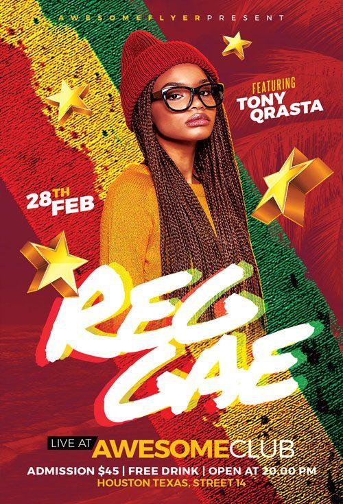 Reggae Dancehall Flyer Template