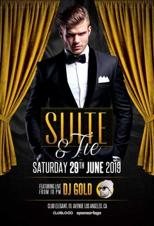 Elegant Suite Party Flyer Template