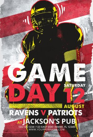 Football Game Day Vol. 4 Flyer Template