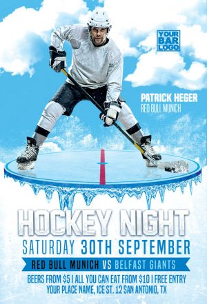 Ice Hockey Game Flyer Template
