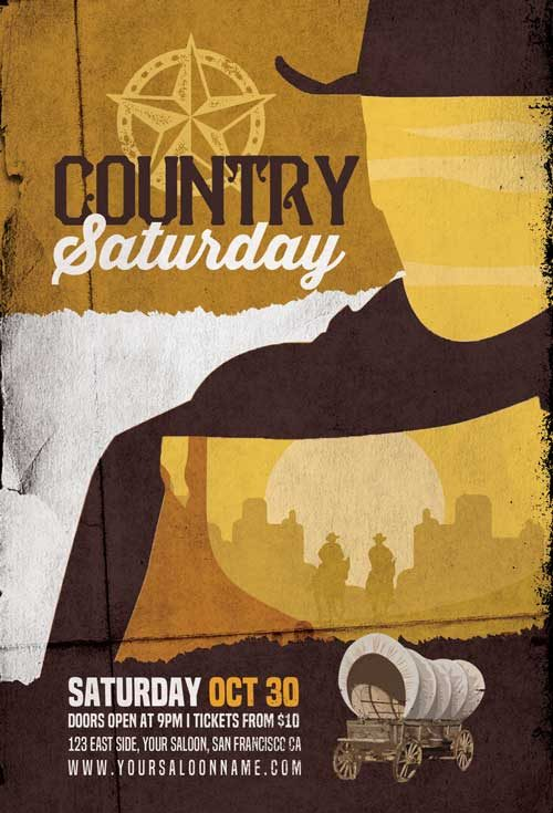 Country Music Saturday Flyer Template