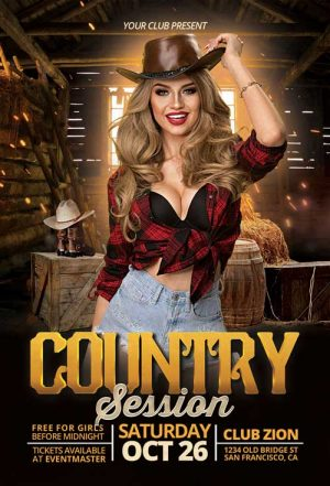 Country Music Session Flyer Template