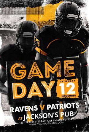 Football Game Day Vol. 5 Flyer Template