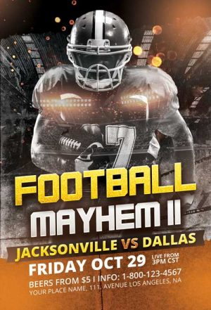Football Mayhem Vol. 3 Flyer Template