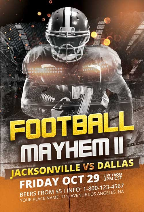 Football Mayhem Vol. 3 Flyer Template