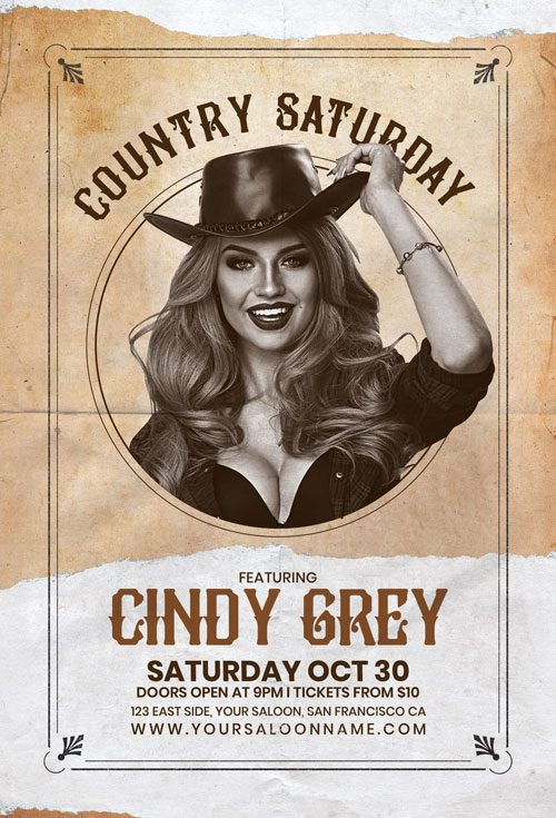 Country Artist Flyer Template