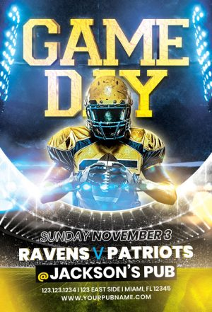 Football Game Day Vol. 6 Flyer Template