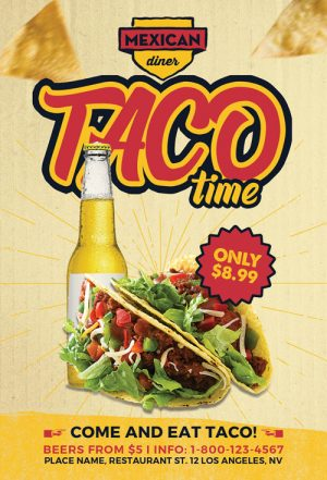 Taco Time Flyer Template