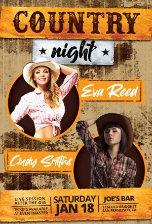 Country Music Bar Flyer Template