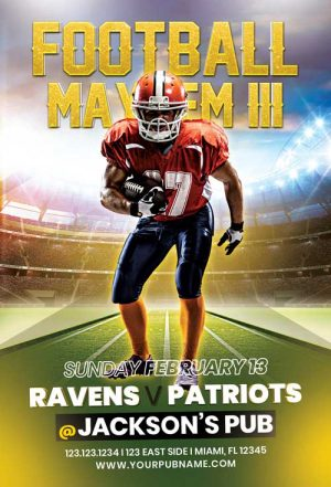 Football Mayhem Vol. 4 Flyer Template