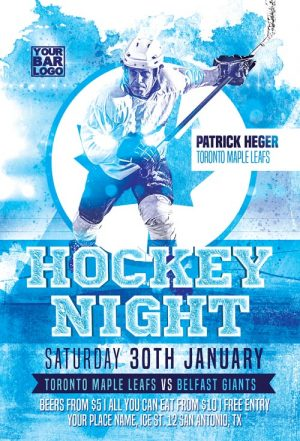 Ice Hockey Match Flyer Template