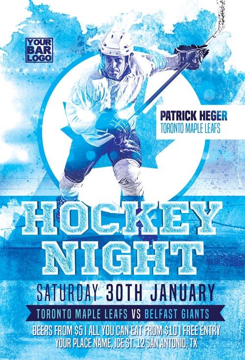 Ice Hockey Match Flyer Template
