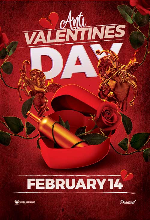 Anti Valentines Day Free Flyer Template