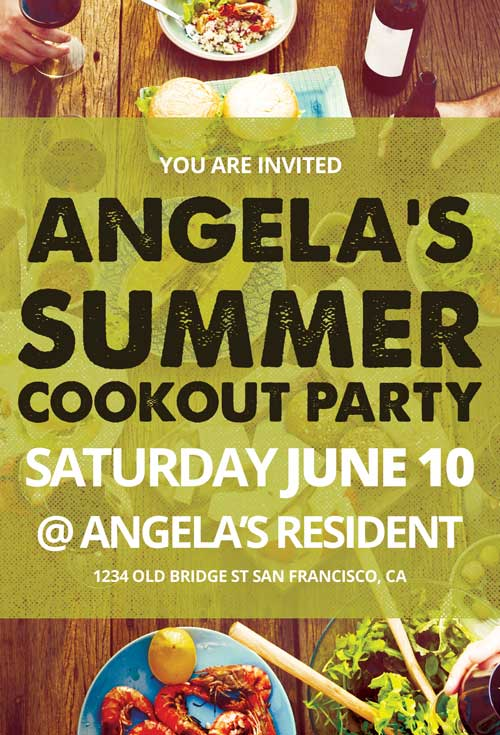 Cookout Party Free Flyer Template