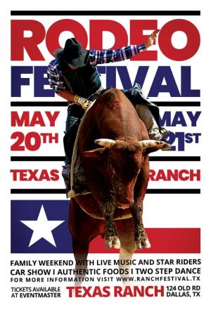 Rodeo Festival Free Flyer Template