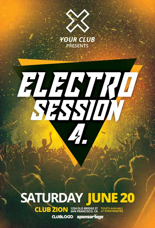 Electro Club Session Vol. 4 Free Flyer Template